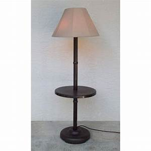 traditional floor lamp table with bronze frame dfohome With floor lamp with picture frames
