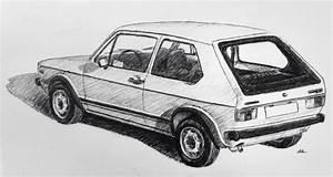 My Drawing Of A Mk 1 Vw Golf Gti   Autos