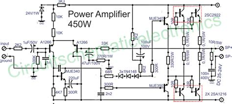 power lifier 450w with sanken circuit wiring diagrams