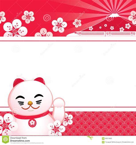 sakura blossom  japanese lucky cat  fuji mountain
