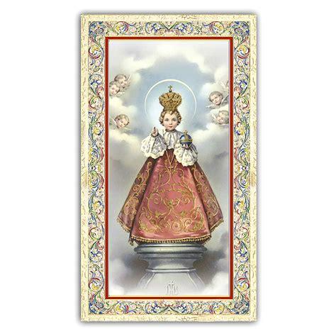 Holy Card Infant Jesus Of Prague Prayer Ita 10x5 Cm