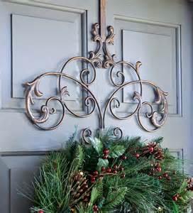 iron wreath hanger holiday greenery