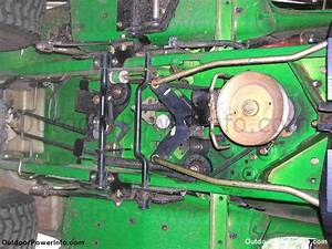 Putting A Drive Belt On A Deere Lt180  And I Have A Spring