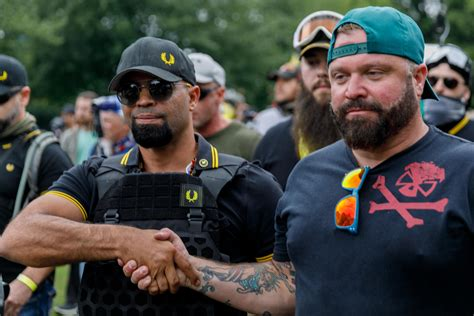 proud boys leader posts image  fake capitol invasion
