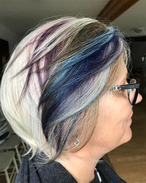 65 Gorgeous Gray Hair Styles Purple grey hair Grey