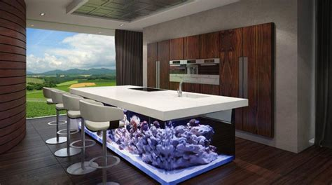 cuisine geant un aquarium géant dans votre cuisine
