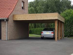 carport adosse en bois pour abriter votre voiture With allee pour voiture dans jardin 12 carport 2 voitures toit plat
