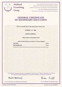 gcse physics summer 1989 With gcse certificate template