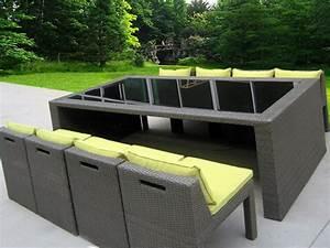 Salon Rotin Exterieur : mobilier et meuble de jardin design ~ Teatrodelosmanantiales.com Idées de Décoration