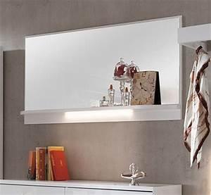 Spiegel Mit Ablage Weiß : dreams4home spiegel tavira mit ablage wandspiegel garderobe diele opt beleuchtung wei ~ Indierocktalk.com Haus und Dekorationen