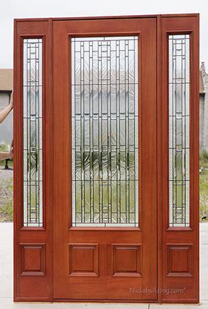exterior mahogany doors pfc  walnut stained