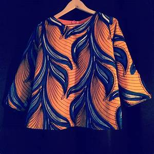 tutoriel 2 top en tissu africain wax avec manches With tissus taffetas pour robe