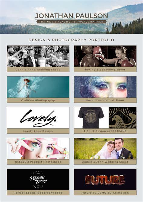 professional modern resume cv portfolio page