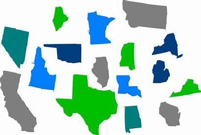 Individual Clipart States Clip Seperate State Vector