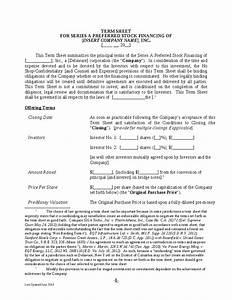 national venture capital association term sheet 2014 hashdoc With venture capital term sheet template