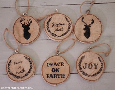 how to make wooden ornaments 40 diy homemade christmas ornaments to decorate the tree