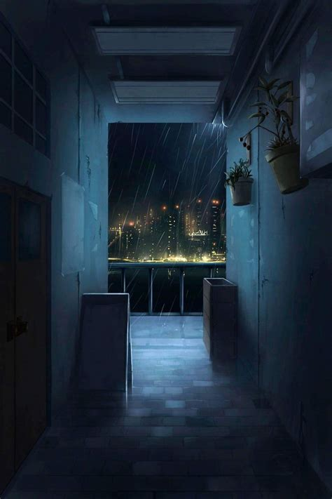corridor  night illustration art digitalart digitalpainting animation art night