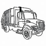 Truck Garbage Coloring Clip Pages Dump Clipart Snow Ford Plow Trash Outline Draw Semi Drawing Trucks Diesel Sanitation Cliparts Toy sketch template