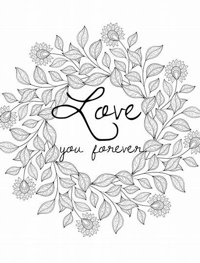 Coloring Pages Valentines Adult Printable Adults Happy