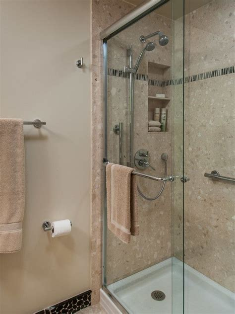 Removing Cultured Marble Shower Walls - i like this easy to clean solution for a walk in shower i