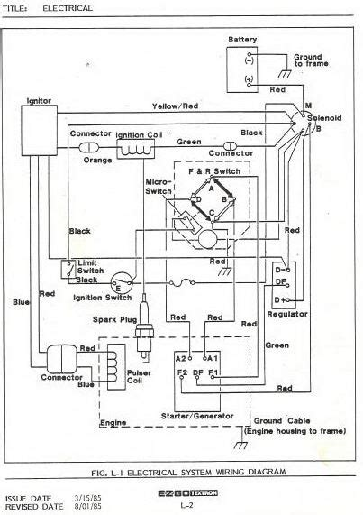 94 Ezgo Golf Cart Wiring Diagram by Im Looking For A Wireing Diagram For An 1987 To 1988 Ezgo