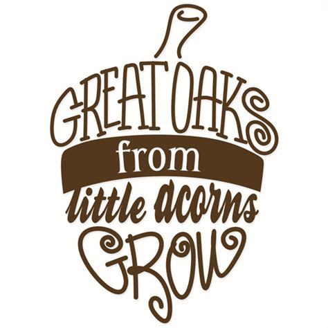 mighty oaks from acorns grow display banner raising cuttable design