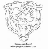 Stencils Bears Head Stencil Paint Bear Chicago Spray Face Printable Painting Airbrush Pumpkin Easy Unicorn Cubs Bing Cave Man Paw sketch template