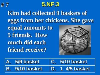 grade common core math  nf division  fractions