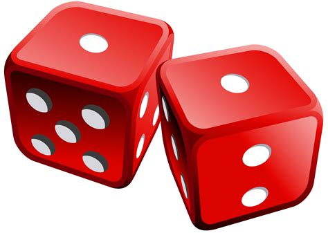 red dices png clipart  web clipart