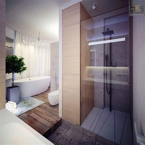Modern Bathroom And Shower by Leks Architects Kiev Apartment Elemental Bathroom With