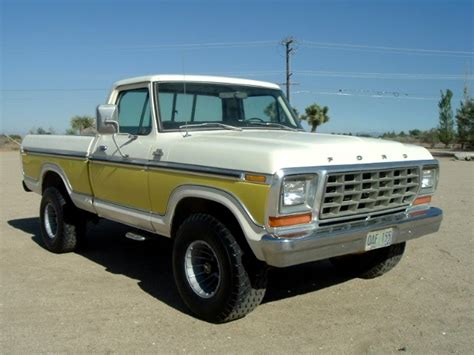 ford   swb short bed lariat yellow white