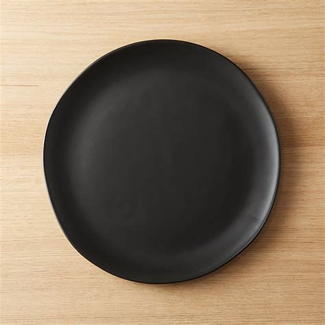 Teller Schwarz Matt by Crisp Matte Black Dinner Plate Reviews Cb2
