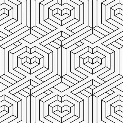 Pattern Outline Geometric Optical Trippy Illusion Illustration