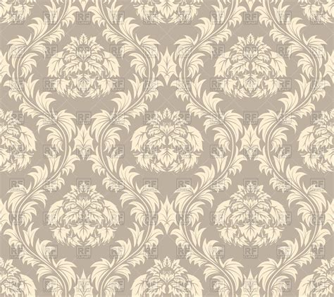 seamless antique pattern brown victorian style wallpaper