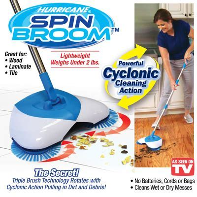 Hurricane Spin Rotating Brush Broom from Collections Etc.