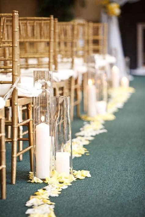 ceremony wedding aisle decor  candles  weddbook