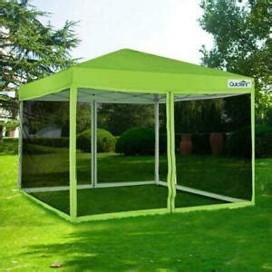 quictent  pop  canopy gazebo  netting screen house mesh sides green  ebay