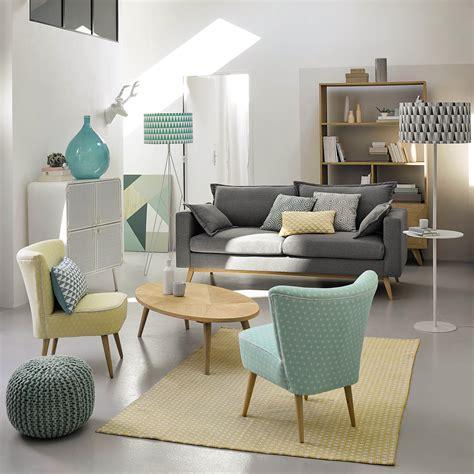 maisons du monde canapé convertible canapé convertible 3 places en tissu gris clair salons