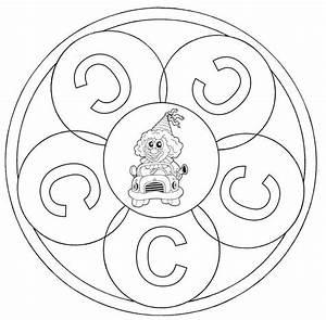 Kostenlose Malvorlage Mandalas Mandala Buchstabe C Zum