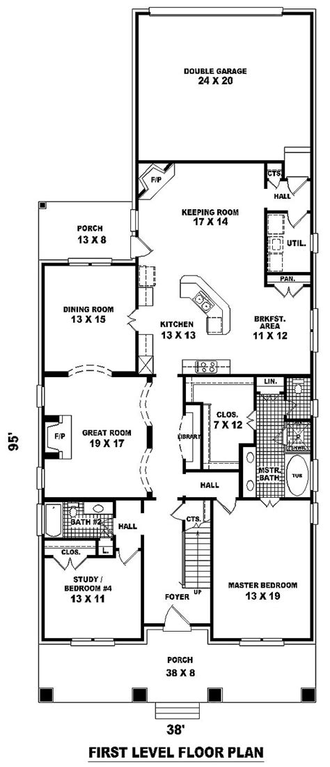 ideas  narrow lot house plans  pinterest