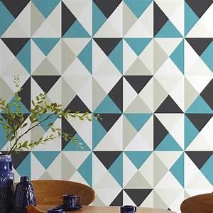 Papier Peint Deco : papier peint triangles d co scandinave ~ Voncanada.com Idées de Décoration