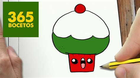 como dibujar un cupcake para navidad paso a paso dibujos kawaii navide 241 os how to draw a