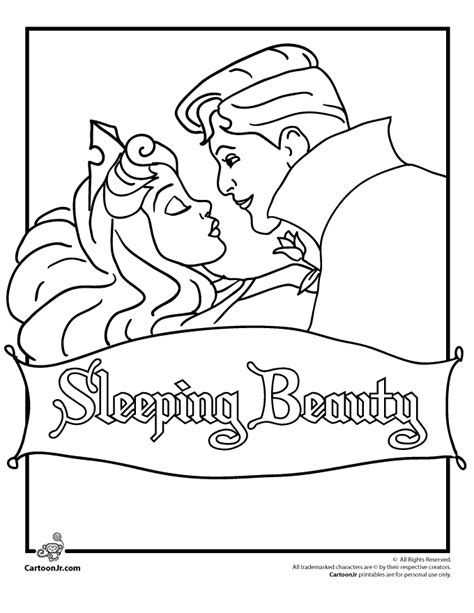 sleeping beauty coloring pages  dr odd