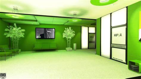 wallpaper lights video games city green office