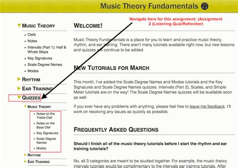 I had done 2 other music related moocs, with very disparate experiences, so i was prepared for almost anything. Quizzes and Assignments - Music Theory 101