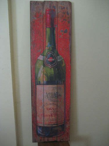 vintage style wine bottle resturant home decor 5ft barn country wood pub sign pub signs barn