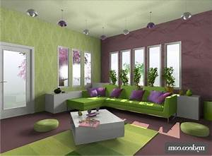 Purple colour combination for living room home combo for Modern color schemes for living rooms pictures