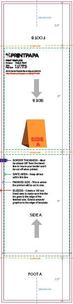 4x6 table tent template find a printing template printpapa com