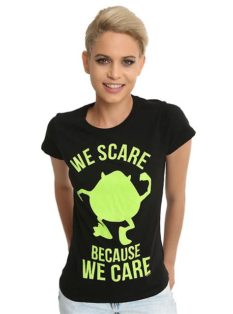 we care t shirt black disney monsters inc mike we scare because we care bff t