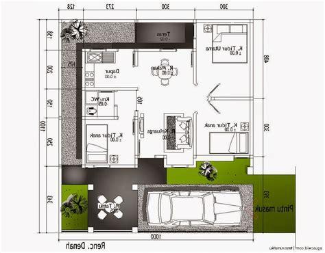denah rumah minimalis ukuran